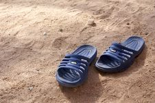 Free Shoes On Sand Stock Image - 3524511