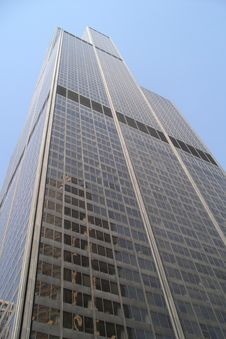 Sears Tower Reaching To Sky Stock Photography