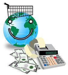 Free Shopping Worldwide Royalty Free Stock Photography - 3526027