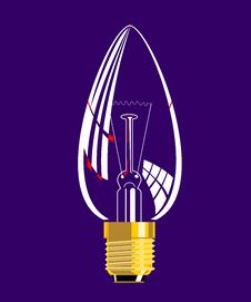 Free Candle Light Bulb Icon Royalty Free Stock Photography - 3526077