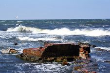 Free Bricks And Sea Coast Stock Photos - 3526113