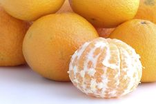Free Tangerine Peeled Stock Photography - 3526582