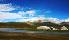 Prairie On The North Of Tibet Stock Photos