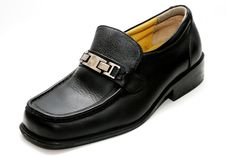 Free Male Black Shoes Royalty Free Stock Images - 3526679