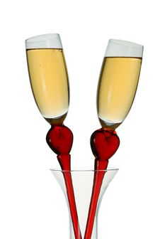 Free Champagne Glasses Royalty Free Stock Photography - 3527797