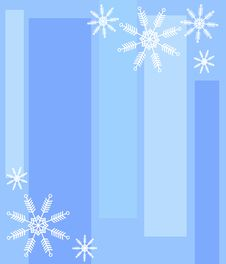 Free Snowflake Stripes Background Royalty Free Stock Images - 3528779