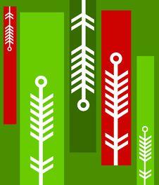 Unique Christmas Pattern Stock Photo