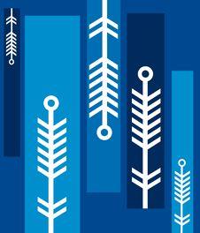 Unique Christmas Pattern 2 Stock Image