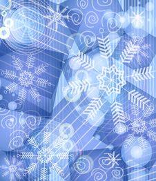 Blue Snowflake Background 2