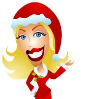 Free Happy Woman Christmas Model  3 Royalty Free Stock Photography - 3529107