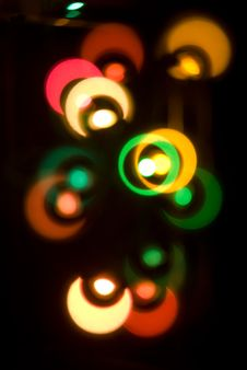 Free Blurry Colored Lights Stock Photography - 3529542