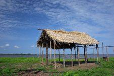 Free Hut In Amazonia Royalty Free Stock Photos - 3529638