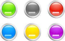 Cut Down Button. [Vector] Stock Image