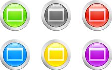 Open Button. [Vector] Royalty Free Stock Image