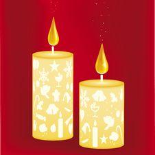 Free Xmas Candles (vector) Stock Photo - 3529980