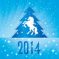 Free Background With Horse Silhouette And Christmas Tree Royalty Free Stock Images - 35203409