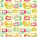 Free Retro Colorful Seamless Pattern Stock Photography - 35208352