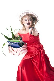 Free Fired Actress With A Box Of Things Express Her Emotions Royalty Free Stock Photo - 35200595
