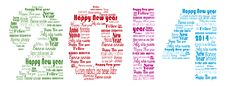 Free Happy New Year 2014 Words In Many Languages Royalty Free Stock Photography - 35202807