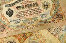 Free 3 Ruble Bill Of Tsarist Russia Royalty Free Stock Photo - 35205785