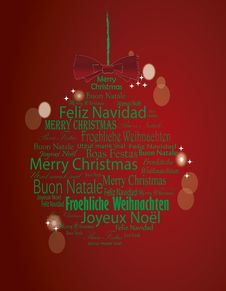 Free Typography Merry Christmas Ball Stock Image - 35206991