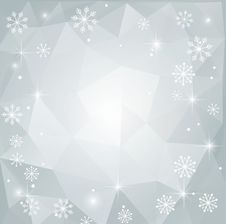 Christmas Abstract Polygonal Background Stock Image