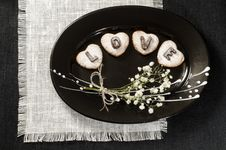 Homemade Cookies Valentine S Day Royalty Free Stock Photo