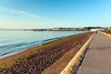 Free Paignton Beach Devon England Near Torquay Royalty Free Stock Photo - 35208855