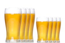 Tankards Of Lager Stock Images
