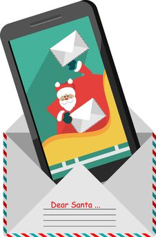 Letter To Santa Claus Royalty Free Stock Images