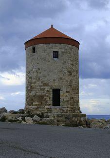 Free Windmills, Rhodes Stock Photo - 35214310
