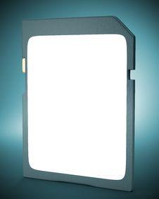 Free Memory Card On Dark Background. Royalty Free Stock Photos - 35214518