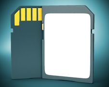 Free Memory Card On Dark Background. Stock Photos - 35214613