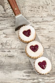 Free Homemade Cookies Valentine S Day Stock Photography - 35214652