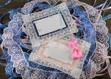 Free Pink And Blue Greeting Cards Royalty Free Stock Photo - 35216555