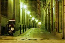 Free Barcelona Night Royalty Free Stock Images - 35219009