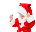 Free Little Girl Dressed In Santa Claus Stock Photos - 35222563