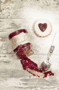 Homemade Cookies Valentine S Day Stock Image