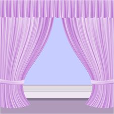 Free Window With Curtains Stock Image - 35223661