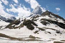Matterhorn Above Schwarzsee Royalty Free Stock Image
