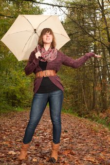 Free Girl Wants To Know If Its Raining Royalty Free Stock Images - 35225239