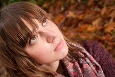 Free Beautifull Autumn Face Stock Images - 35225364