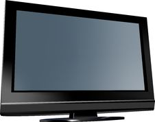TV Flat Screen Royalty Free Stock Images