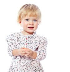 Free Portrait Of A Cheerful  Little Girl At Home, In The Dress, 1,5 Stock Photo - 35229750