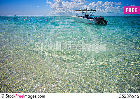 Free Boat Ride In The Exumas Land And Sea Park Royalty Free Stock Image - 35237646