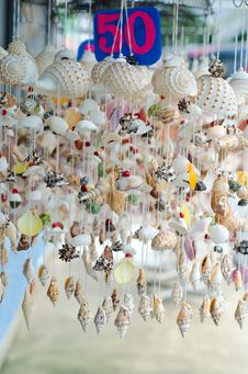Free Mobile Made From Various Shells Stock Image - 35230191