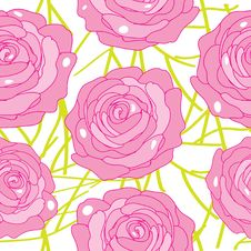 Free Vector Rose On An Abstract Background Royalty Free Stock Photo - 35230205
