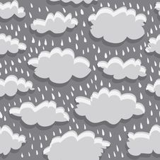 Free Rain Clouds And Rain Royalty Free Stock Photography - 35230267