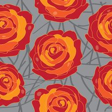 Free Vector Rose On An Abstract Background Stock Images - 35230344
