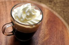 Free Glass Cup Of Espresso Coffee Stock Image - 35231751